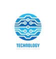 digital technology - logo template vector image vector image