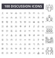 discussion line icons signs set outline vector image vector image