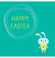 Easter bunny and scribble speech bubble vector image