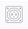 European socket icon Electricity power adapter vector image vector image