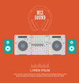 flat design dj mixer sound turntables vector image vector image