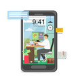 freelance remote work concept flat vector image vector image