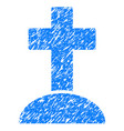grave grunge icon vector image