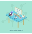 Laboratory research chemical isometric style vector image vector image