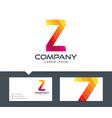 letter z - logo design vector image vector image