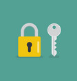 lock and key icon vector image vector image