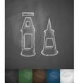 mayonnaise and ketchup icon Hand drawn vector image vector image