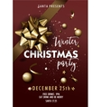 Merry Christmas party layout poster template vector image vector image