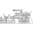mexico city architecture line skyline vector image vector image