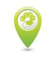 money exchange icon green map pointer vector image