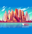 moscow downtown cityscape background vector image vector image