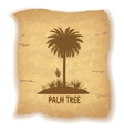 Palm Trees Silhouettes on Old Paper vector image vector image