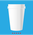 paper coffee cup icon different color vector image