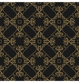 pattern gold geometric shapes on a black vector image vector image