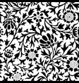pattern of the silhouettes of decorative flowers vector image vector image