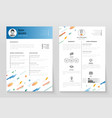 personal resume - template vector image vector image