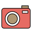 photographic camera isolated icon vector image vector image