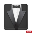 Premium Icon suit tuxedo and bow-tie vector image vector image