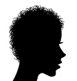 Profile of a woman with curly hair vector image vector image