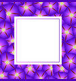 purple morning glory flower banner card vector image vector image