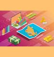 quezon philippines city isometric financial vector image vector image