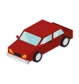 red car vehicle vector image