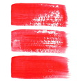 Red ink brush strokes vector image vector image
