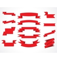 ribbons red set vector image vector image