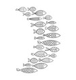school fish stylized group stylized fishes vector image vector image