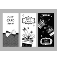 Set of gift cards hand-drawn Templates gift vector image vector image