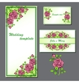 set with wedding template vector image vector image
