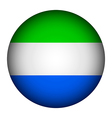 Sierra Leone flag button vector image