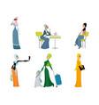 six beautiful arab women vector image vector image