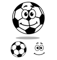 Smiling and white cartoon football character vector image vector image