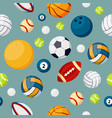 sport equipment flat colorful seamless vector image vector image