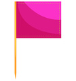 Square flag in pink color vector image vector image