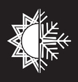 summer winter air conditioning icon32 vector image