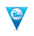 train icon on map pointer blue vector image