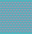turquoise geometric seamless pattern vector image vector image