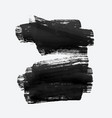 two black grunge watercolor brush stroke vector image vector image