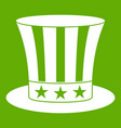 uncle sam hat icon green vector image vector image