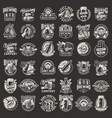 vintage monochrome brewery prints set vector image