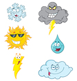 Weather Symbols Cartoon Character vector image