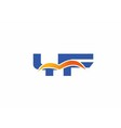 YF Logo Graphic Branding Letter Element vector image vector image