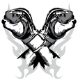 martial arts gloves crossed vector image