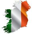 Ireland map with flag vector image