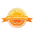 best quality labels with retro vintage design vector image