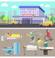 Medical diagnostic equipment and medical staff vector image