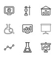 9 analysis icons vector image vector image