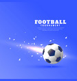 abstract football blue background with light and vector image vector image